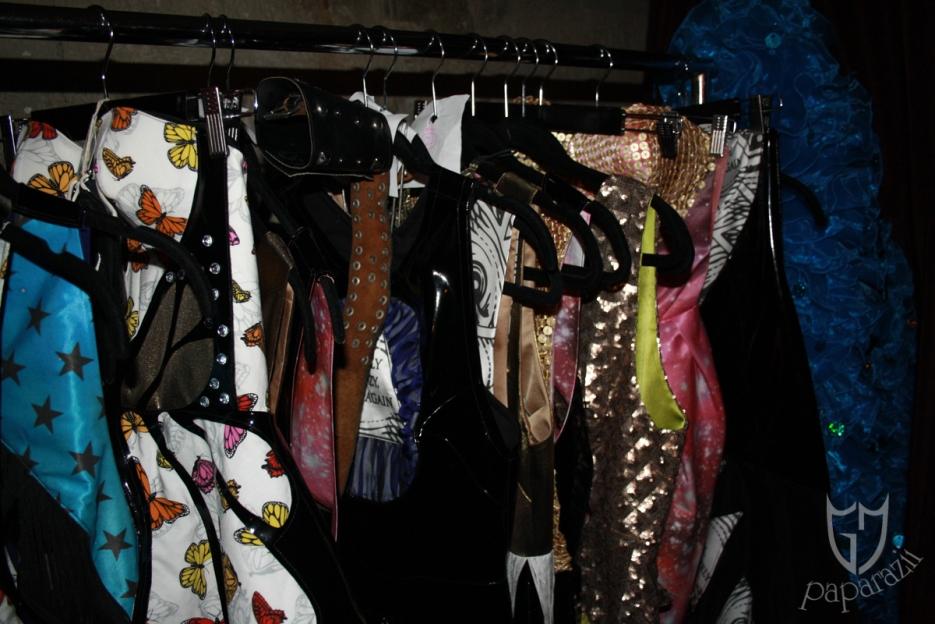 Garment lin-up backstage