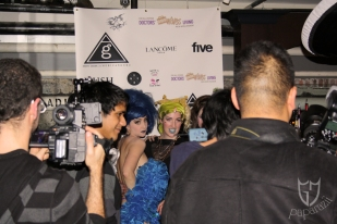 Paparazzi party on The Five Agency's backdrop.